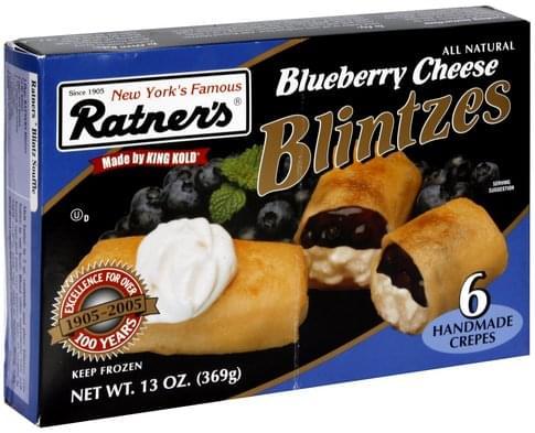 Ratners Blueberry Cheese Blintzes - 13 oz