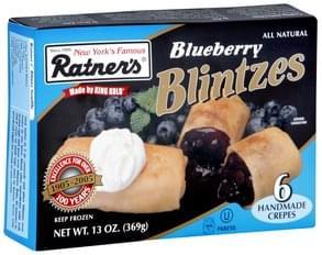 Ratners Blueberry Blintzes