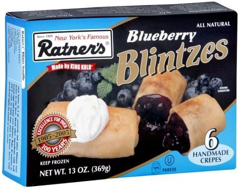 Ratners Blueberry Blintzes - 6 ea