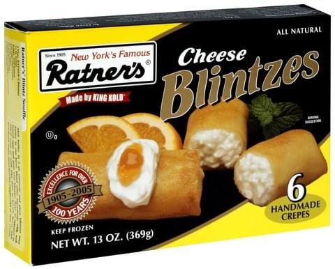Ratners Cheese Blintzes - 6 ea