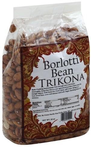 Trikona Borlotti Bean - 20 oz