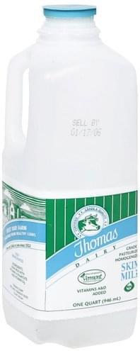 Thomas Dairy Skim Milk - 1 QT