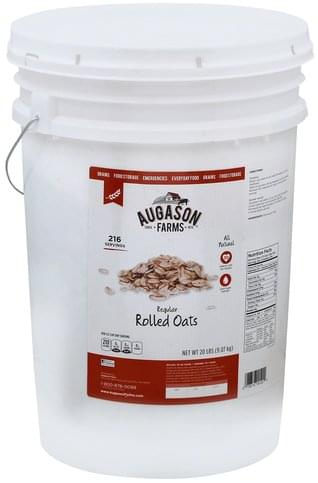Augason Farms Regular Rolled Oats - 20 lb