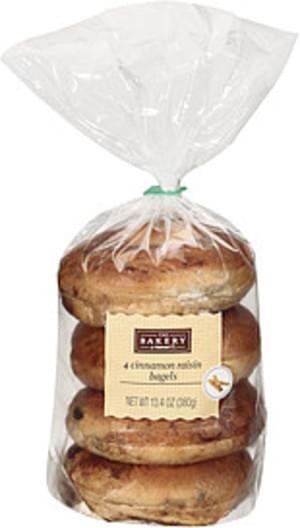 The Bakery At Walmart Cinnamon Raisin 4ct Bagels - 13 4 oz
