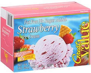 Great Value Ice Cream Fat Free No Sugar Added Strawberry