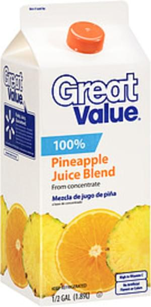 Great Value Juice Drink from Concentrate - 0.5 Gal