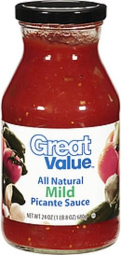 Great Value Sauce All Natural Mild Picante