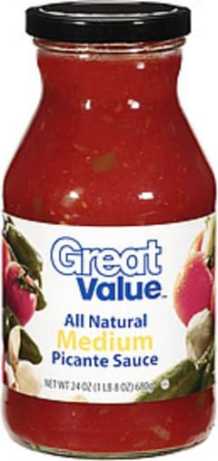 Great Value Sauce All Natural Medium Picante