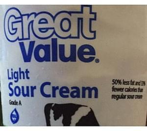 Great Value Light Sour Cream