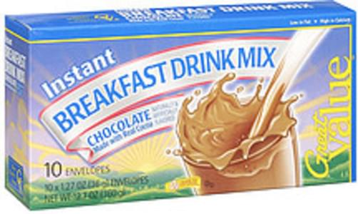 Great Value Breakfast Drink Mix Chocolate Instant