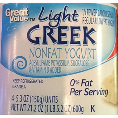 Great Value Greek Nonfat Yogurt - 150 g
