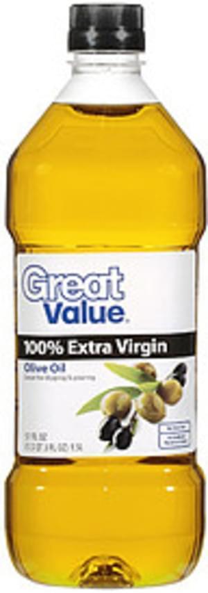 Great Value 100% Extra Virgin Olive Oil - 51 oz