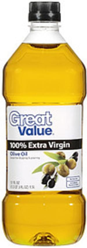 Great Value 100% Extra Virgin Olive Oil - 51 oz