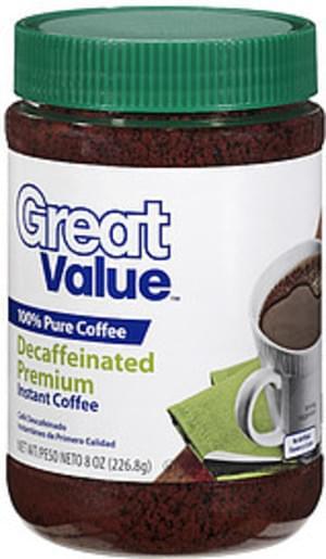 Great Value Decaffeinated Premium Instant Coffee - 8 oz