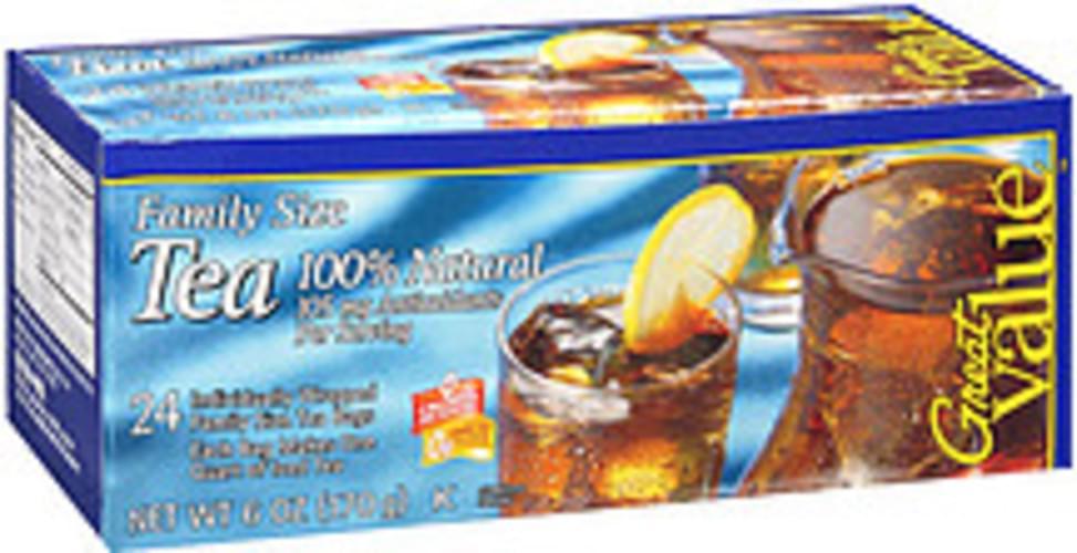 Great Value Naturally Decaffeinated Iced Tea Brew Tea Bags - 24
