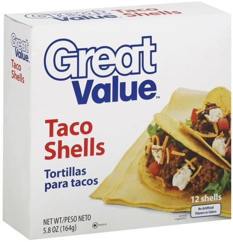 Great Value Taco Shells - 12 ea