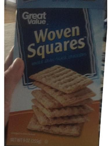 Great Value Woven Squares Crackers - 28 g