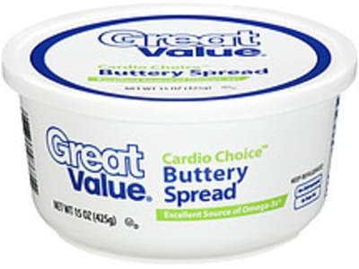 Great Value Buttery Spread Cardio Choice