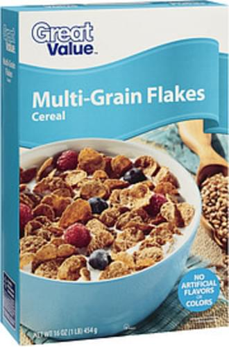 Great Value Multi-Grain Flakes Cereal - 16 oz