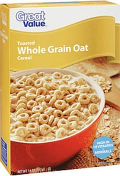 Great Value Toasted Whole Grain Oat Cereal