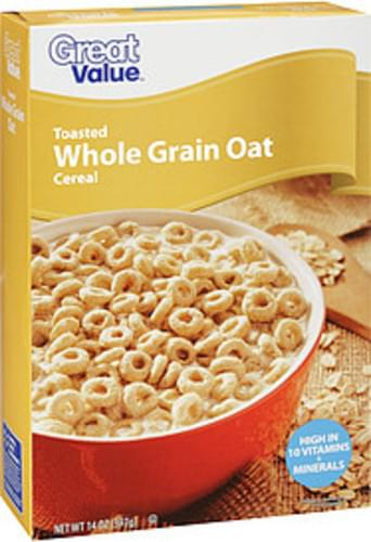Great Value Cereal Toasted Whole Grain Oat - 14 oz