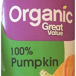 Great Value Organic Pumpkin