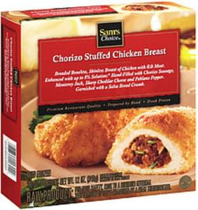 Sam's Choice Frozen Entree Chorizo Stuffed Chicken Breast With Cheeses and Pepper 6 Oz. Ea.