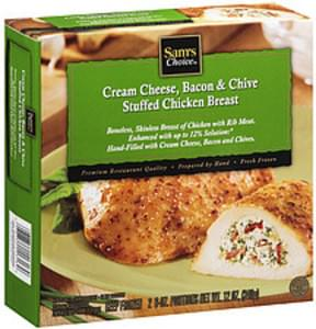 Sam's Choice Frozen Entree Cream Cheese Bacon & Chive Stuffed Chicken Breast Filled 6 Oz. Portions