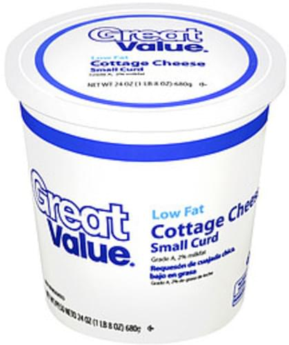 Excellent Great Value Low Fat Small Curd Cottage Cheese 24 Oz Home Remodeling Inspirations Cosmcuboardxyz