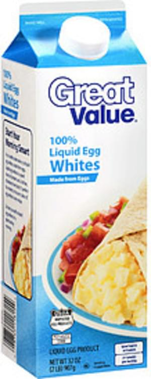 Great Value 100% Liquid Egg Whites - 32
