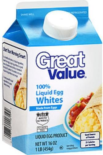 Great Value 100% Liquid Egg Whites - 16