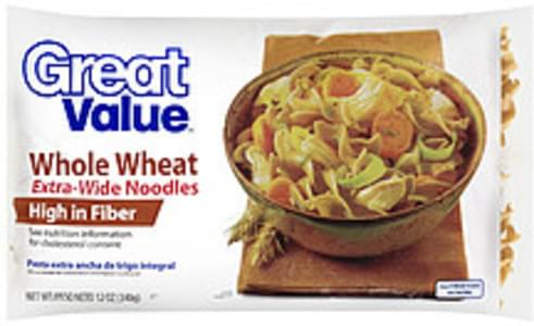 Great Value Noodles Whole Wheat Extra Wide