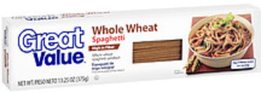 Great Value Spaghetti Whole Wheat