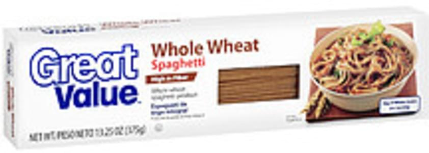 Great Value Spaghetti Whole Wheat