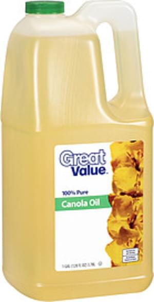 Great Value 100% Pure Canola Oil - 1 Gal