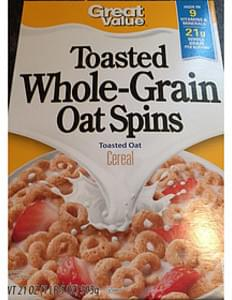 Great Value Toasted Whole-Grain Oat Spins Toasted Oat Cereal