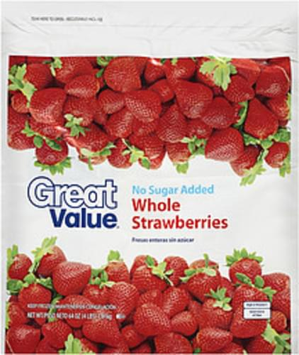 Great Value Whole Strawberries - 64 oz