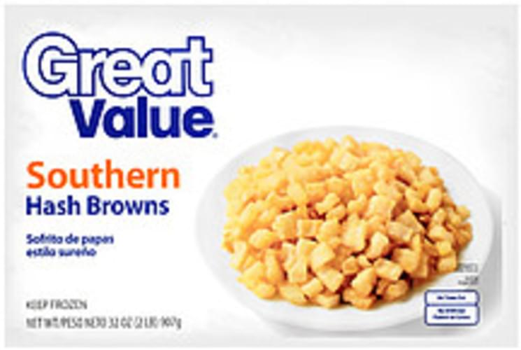 Great Value Southern Hash Browns - 32 oz