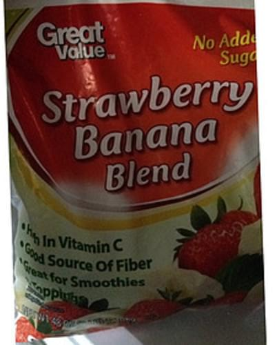 Great Value Strawberry Banana Blend - 140 g