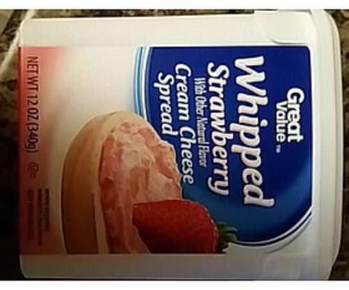 Great Value Whipped Strawberry Cream Cheese Spread - 22 g