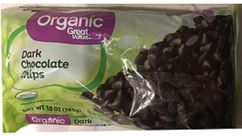 Great Value Organic Dark Chocolate Chips - 15 g