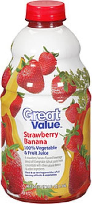 Great Value Strawberry Banana Vegetable & Fruit Juice - 46 oz