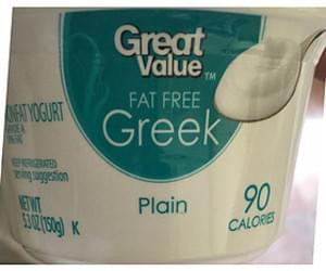 Great Value Plain Fat Free Greek Yogurt