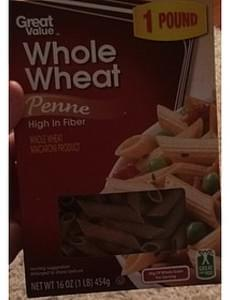 Great Value Whole Wheat Pasta Penne