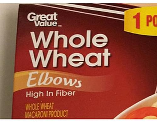 Great Value Whole Wheat Elbows - 56 g