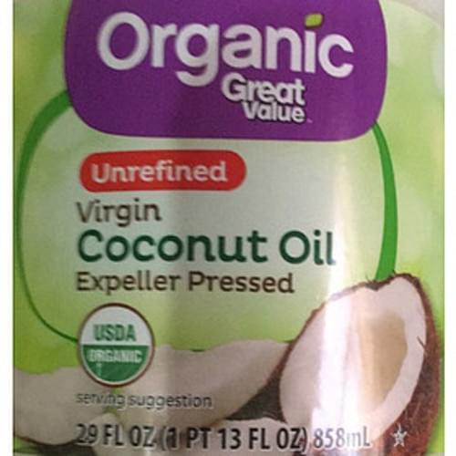 Great Value Unrefined Virgin Coconut Oil - 14 g