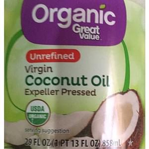 Great Value Virgin Coconut Oil Unrefined