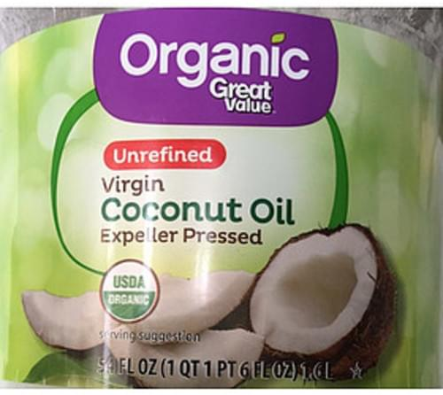 Great Value Unrefined Organic Virgin Coconut Oil - 14 g