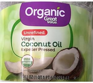 Great Value Organic Virgin Coconut Oil Unrefined