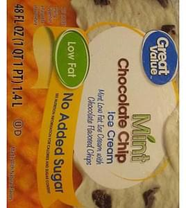 Great Value Ice Cream Mint Chocolate Chip